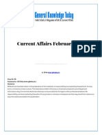 Current Affairs February 2014