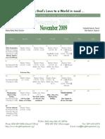 November 2009 Web Calendar