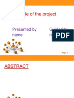 Model Ppt for Project First RW