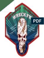 Skeleton Wreck Fm Badge