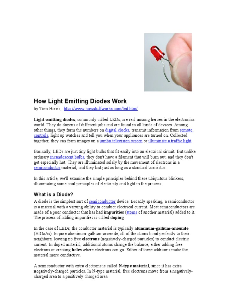 Leds Light Emitting Diode Electrical Circuits