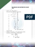 Pembahasan Tkdu Bidang Ilmu Matematika Dasar Sbmptn Tahun 2013