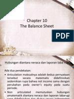 Chapter 10-The Balance Sheet