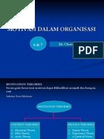 Motivasi Dlm Organisasi