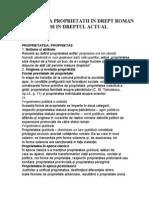 Institutia Proprietatii in Drept Roman Si in Dreptul Actual