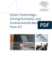 Green Technology Economic and Environmental Benefits From i Ct