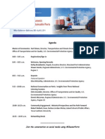 Port Stakeholder's Summit Agenda - April 8 2014