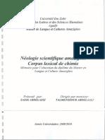 Néologie scientifique amazighe  corpus lexical de chimie - Sadik abdelaziz (Mémoire de master)