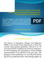 Fundsforngos-NGO Guidelines for Applying PRM Grants