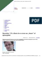 """Snowden_ UE a lǎsat sǎ se creeze un """"bazar"""" al spionajului"""