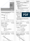 Lecture 1 - Intro to Math Optimisation