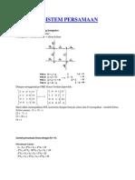 Aplikasi Sistem Persamaan Linear