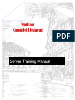 Server Training Manual With Washout