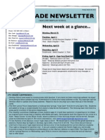 6th grade newsletter march 28 2014