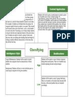 frayer - classifying