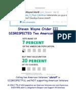 Steven Wayne Crider III DISRESPECTED Two American Veterans