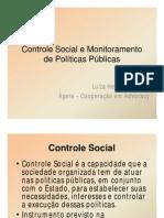 Controle Social e Monitoramento de Políticas Públicas