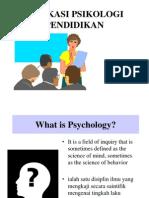 Aplikasi Psikologi Pendidikan