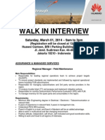 Huawei Walk in Interview - Jakarta Mar 01, 2014