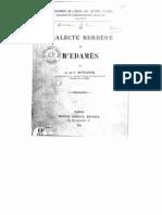 Dialecte Berbère de Ghedamès Motylinski