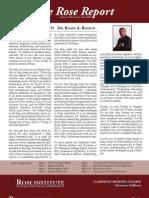 Fall 2009 Rose Report