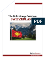 Switzerland Gold Storage