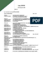 Ley 27972 - Nueva Lom