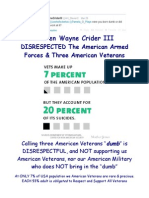 Steven Wayne Crider III DISRESPECTED The American Armed Forces & Three American Veterans
