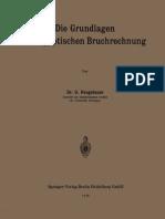 Dr. O. Neugebauer (auth.)-Die Grundlagen der ägyptischen Bruchrechnung-Springer Berlin Heidelberg (1926)