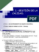 UNIDAD 1-GESTIÓN DE LA CALIDAD