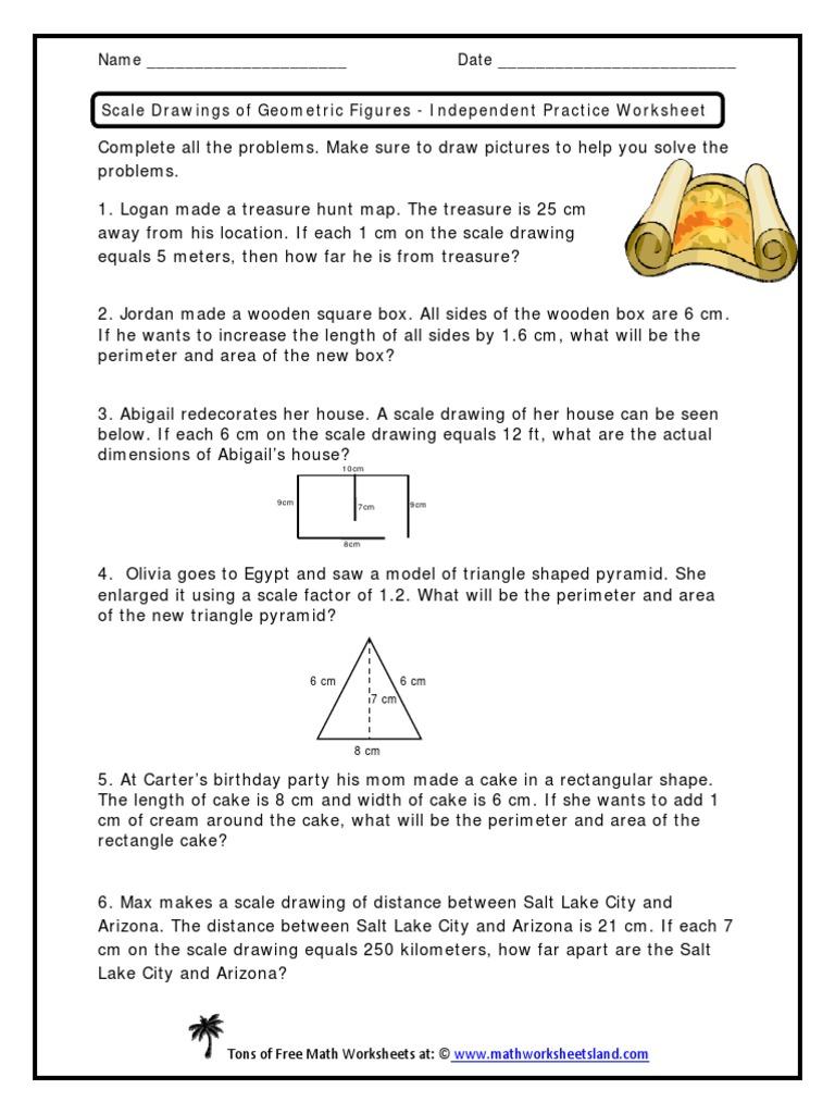 scale drawings 7 g 1   Elementary Geometry   Space