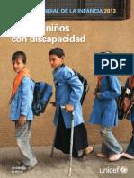 2013 Ninas y Ninos Con Discapacidad