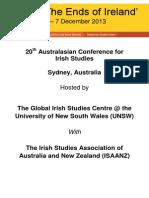 The Ends of Ireland-Symposium Australia