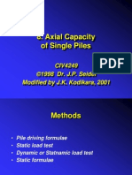 Capacidad Axial de Pilotes Simples