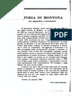 """Mortean, Storia di Montona, """"Archeografo Triestino"""" 1891."""