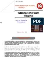interacción pilote terreno