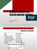 EXAMEN CLÍNICO DEL RECIEN NACIDO NORMAL