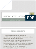 Special Civil Actions Report