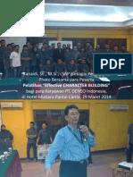 Photo2 (Kanaidi, SE., M.si., cSAP Sebagai Pembicara) Pada Pelatihan_Effective CHARACTER BUILDING_bagi Para Karyawan PT DENSO Indonesia, Di Hotel Mutiara-Pantai Carita, 29 Maret 2014