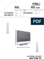 Sony Flat Panel Tv Kdls40a10 Chwax