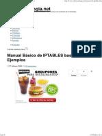 Manual Básico de IPTABLES basado en Ejemplos