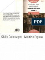 GUIA DE HISTÓRIA DA ARTE - ARGAN E FAGIOLO