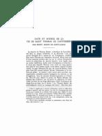 Emmanuel Walberg - Date Et Source de La Vie de ST Par Beneit - Romania 44 - 1915-1917