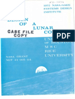 Lunar Surface Colony U of Houston 1972
