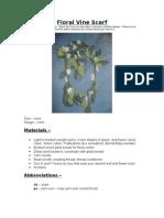 Floral Vine Lariat Scarf - My Pattern
