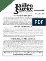 Shades of Green Garden Gazette - November 2009