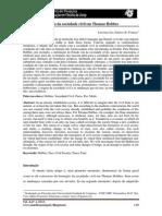 A razão da sociedade civil em Thomas Hobbes  - Laryssa Luz Santos de Franca