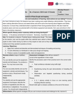 Pizza Dough Pract Learning Plan Sewctet PIZZA DOUGH Pract Year 9bc Observation Scribd