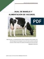 Manejo y alimentación de vacunos