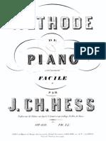 Méthode de piano extrêmement facile, Op.69 (Hess, J. Charles)